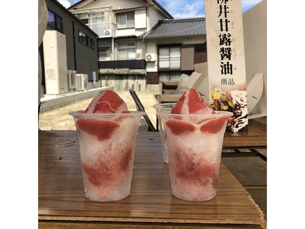 山口県柳井市シェ・カワモトかき氷
