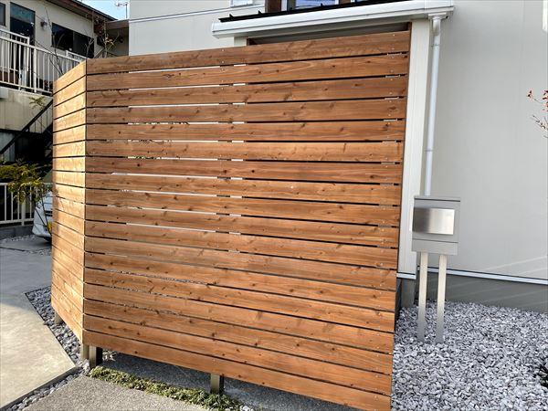 山口県玖珂郡和木町の建売住宅にフェンスを設置しました。