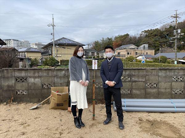 山口県周南市の遠石神社で地鎮祭をおこないました。